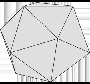 Graue Form: Ikosaeder