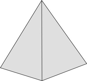 Graue Form: Tetraeder/Pyramide