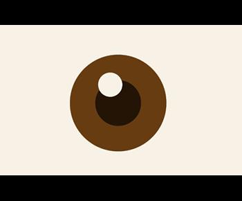 Grafik eines Auges mit brauer Iris