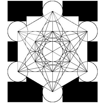 Zeichnung: Metatrons Würfel